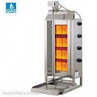 Аппарат для приготовления шаурмы газовый Тyp 3GD загрузка, кг. 40