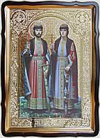 Святые князья Борис и Глеб 80х60см (110х80см)