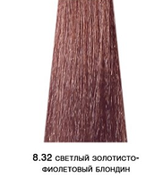 Kaaral Baco Soft тон 8.32 светлый золотисто-фиолетовый блондин, перманентный безаммиачный крем-краситель, 60мл