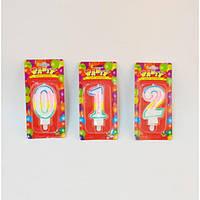 """Свеча праздничная для дома """"День рождение"""" MC003, размер 8 см, свеча декоративная, свеча подарочная"""