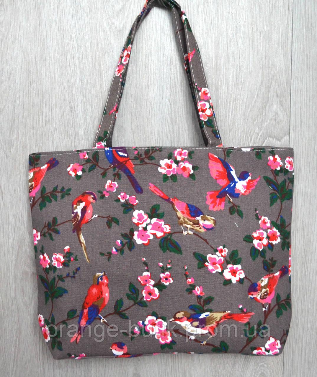 97fef6337a38 Пляжная, городская сумка с принтом птички - Интернет-магазин
