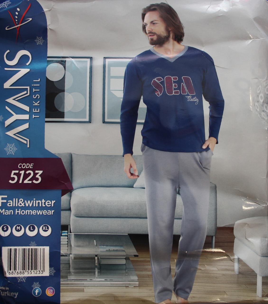 Мужская пижама c мысиком на воротнике AYANS 5123