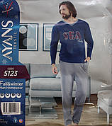 """Мужская пижама c мысиком на воротнике """"AYANS"""" 5123"""