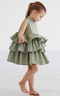 Детское платье -  с  воланами, фото 1