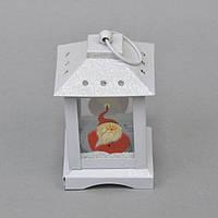 """Новогодний фонарь """"Дед Мороз"""" NG181, 12*8 см, металл, стекло, Декоративный фонарь, Фонарь с Дедом Морозом, Украшения новогодние, Праздничный декор"""