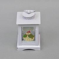 """Новогодний фонарь для декора """"Снеговик"""" NG183, 12*8 см, металл, стекло, Декоративный фонарь, Фонарь со Снеговиком, Праздничный декор"""