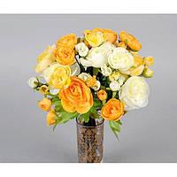 """Композиция цветочная для декора """"Букет Лютиков"""" SU059, размер 33х22 см, декоративный цветок, искусственное растение, букет искусственных цветов"""