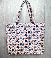 Пляжная, городская сумка с принтом поцелуйчики