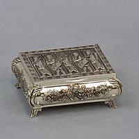 """Шкатулка металлическая для украшений """"Egypt"""" M2185, размер 4х9х7 см, мельхиор, шкатулка для драгоценностей, шкатулка для мелочей"""