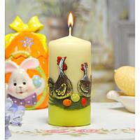 """Свеча для праздничного интерьера  Bartek """"Лилипутка"""" SW173, цилиндрическая, 60*130 мм, Фигурные свечи, Праздничные свечки, Декорирование дома, Свеча"""