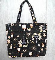 Пляжная, городская сумка Париж, черная