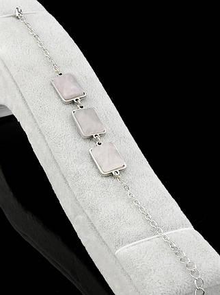 Браслет Розовый кварц натуральный 19 см., фото 2