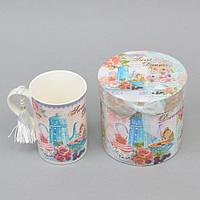 """Чашка фаянсовая для напитков """"Sweet Dreams"""" CK130, размер 11х8 см, объем 250 мл, в подарочной коробке, чашка для чая, посуда для чая"""