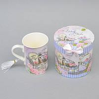 """Чашка фаянсовая для напитков """"London"""" CK142, размер 11х8 см, объем 250 мл, в подарочной коробке, чашка для чая, посуда для чая, чашка для кофе"""