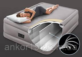 Надувна ліжко двоспальне з вбудованим насосом 220В 152Х203Х51см Intex 64470