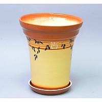 """Вазон керамический для цветов """"Факел №2"""" VS/F2, размер 21х24х12 см, 2 вида, вазон для комнатных растений, горшок для растений"""