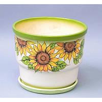 """Вазон керамический для цветов """"Тюльпан"""" VS/TLB, большой, размер 22х23х14 см, вазон для комнатных растений, горшок для растений"""