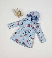 Куртка для девочки  684 весна-осень, размеры на рост от 86 до 104 возраст от 1 до 4 лет, фото 1