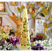 """Свеча - столбик """"Садовая роза"""" SW335, диаметр - 70 мм, высота - 250 мм, вес - 1060 гр, свадебные аксессуары, декор для свадьбы, аксессуары для свадьбы"""