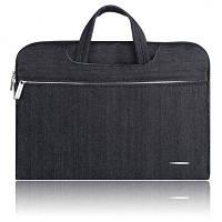 SSIMOO 2 в 1 Сумка из джинсовой ткани для MacBook 13 дюймов Чёрный