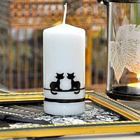 """Свеча свадебная для праздника """"Koty"""" S531, в форме цилиндра, размер 70х150 мм, свадебные аксессуары, декор для свадьбы, аксессуары для свадьбы"""