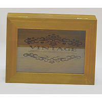 "Шкатулка деревянная для хранения мелочей ""VINTAGE"" FF9017, стекло, 6х20х15 см, шкатулка под украшения, шкатулка из дерева"