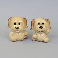 """Комплект копилок для декора """"Собака"""" SB868, керамика, в наборе 2 штуки, 10х5х8 см, статуэтка декоративная, фигурка для дома"""