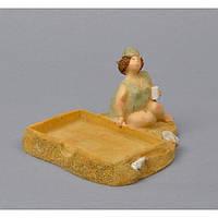 """Статуэтка - подставка для визиток """"Пышка"""" MS2527, керамика, 13х9 см, фигурка декоративная, статуэтка для декора"""