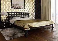 Кровать деревянная полуторная Модерн с деревянным изголовьем