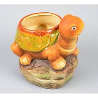 """Вазон керамический для цветов """"Черепаха"""" JXM09012, размер 19х24х9 см, вазон для комнатных растений, горшок для растений"""