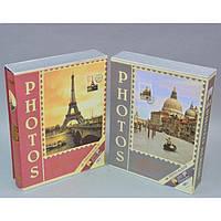 """Фотоальбом картонный для фотографий """"Photos"""" AB2205, размер 23х30 см, на 200 фотографий, 2 вида, альбом для фото, фото-альбом"""