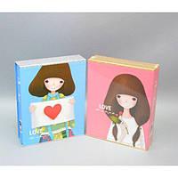 "Фотоальбом картонный для фотографий ""Love"" AB2150, размер 28х22x6 см, на 160 фотографий, 2 вида, альбом для фото, фото-альбом"