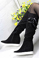 Весенние женские сапожки (черные)