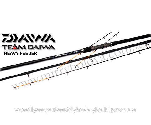 Удилище фидерное Daiwa TOURNAMENT FEEDER 13' HEAVY TNF13HQ-AD 3,9 до 150