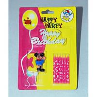 """Свічка святкова для дому """"Цифра"""" MF004, в упаковці 24 штуки, свічка декоративна, свічка подарункова"""