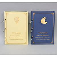 """Фотоальбом картонный для фотографий """"Своими руками"""" AB127, размер 26х18 см, на 30 листов, 4 вида, в комплекте клеящиеся уголки, альбом для фото"""