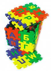 Коврик пазл русский алфавит (14,0 х 14,0 см 32 шт.) | Коврик мозаика русский алфавит