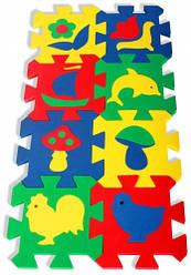 Коврик мозаика с силуэтами (14,0 х 14,0 см 8 шт.) | Детские коврики-пазлы