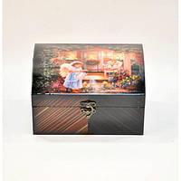 """Комплект шкатулок для хранения мелочей """"Christmas Angel"""" D0064, дерево, в наборе 2 штуки, 20x16.5x10 см, шкатулка под украшения, шкатулка из дерева"""