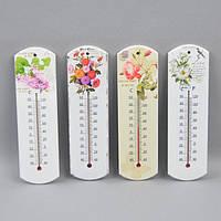 """Термометр комнатный для декора """"Flowers"""" FF8383, дерево, 26х8 см, 7 видов, термометр для комнаты, термометр декоративный"""