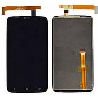 Дисплей для HTC S720e One X/G23/X325e One XL with touchscreen black orig (Бесплатная доставка до дверей)