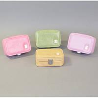 """Шкатулка для ювелирных украшений """"Jelly"""" J165, экокожа, с зеркалом, 4.5х12.5х8 см, 4 цвета, шкатулка для драгоценностей, шкатулка под украшения"""