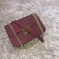 Брендовая маленькая сумка марсала