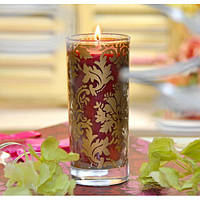 Свеча в стакане для праздничного интерьера King - King C158, 14*6 см, Свечки для Нового Года, Свечи в сосудах, Праздничные свечи