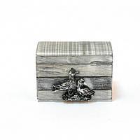 Шкатулка AE52, материал - дерево, размер - 6,5*9*6 см, морская тематика, морские сувениры, сувенир