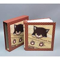 """Фотоальбом картонный для фотографий """"Котенок"""" AB3046, размер 28х26х6 см, на 150 фотографий, 2 вида, в подарочной упаковке, альбом для фото"""
