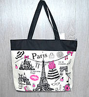 Пляжная, городская сумка с милым принтом Парижа