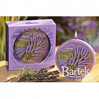 """Свеча праздничная для дома """"Лаванда"""" SW926, в форме диска, подарочный набор свечей, свечи для интерьера"""