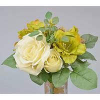 """Композиция цветочная для декора """"Family"""" SU928-1, размер 29х22 см, декоративный цветок, искусственное растение, букет искусственных цветов"""