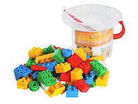 Детский пластиковый конструктор 66 деталей | детские конструкторы